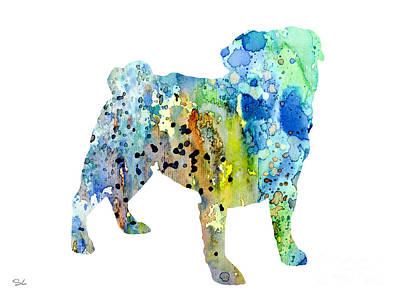 Dog Art Painting - Pug by Luke and Slavi
