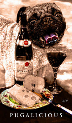 Table Wine Photograph - Pugalicious 2 by Madeline Ellis