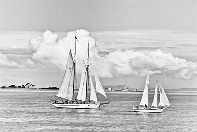 Photograph - Puget Sound Bw by Patrick M Lynch