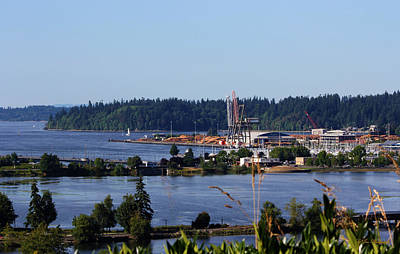 Photograph - Puget Sound Port Of Olympia by Jeanette C Landstrom