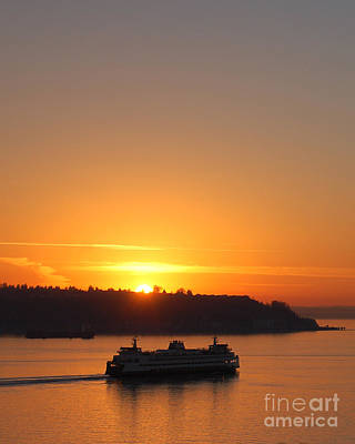 Photograph - Puget Sound Sunset by Chuck Flewelling