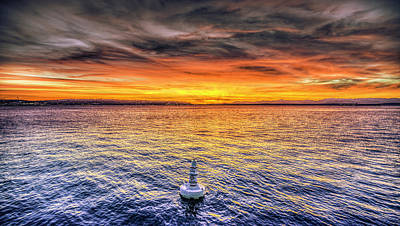 Puget Sound Sunset Art Print by Spencer McDonald