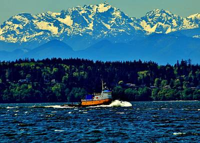 Photograph - Puget Sound Tugboat by Benjamin Yeager
