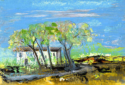 South Of France Painting - Puicheric 04 by Miki De Goodaboom