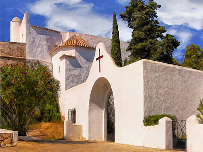 Del Rio Painting - Puig De Missa Church Ibiza by Dominic Piperata