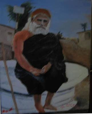 Pujya Bapji Art Print by M Bhatt