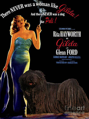 Painting - Puli Art Canvas Print - Gilda Movie Poster by Sandra Sij