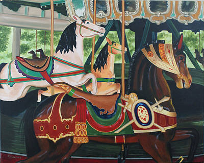 Painting - Pullen Park Carousel by Jill Ciccone Pike