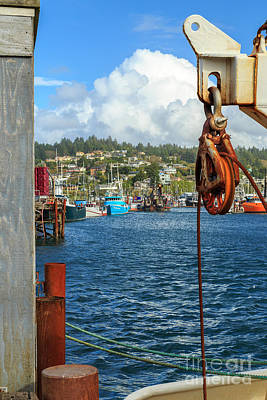 Photograph - Pulley Cables And Boats by James Eddy