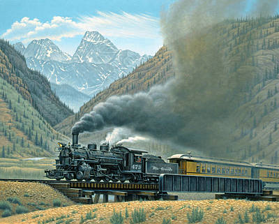 Steam Painting - Pulling For Silverton by Paul Krapf
