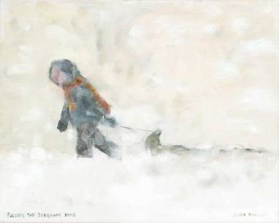 Pulling The Toboggan Home Art Print