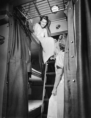 Women Together Photograph - Pullman Coach Sleeper Car by Frank Willming
