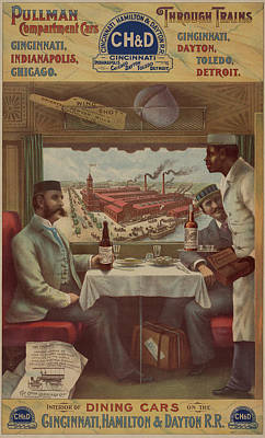 Painting - Pullman Compartment Cars Ad Circa 1894 by George Pedro
