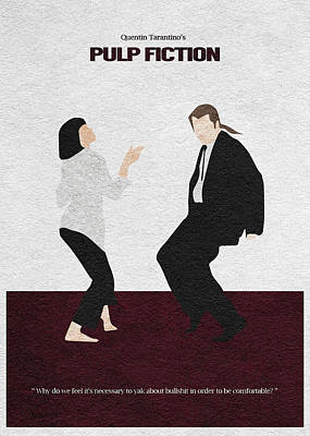 Tarantino Digital Art - Pulp Fiction 2 by Ayse and Deniz