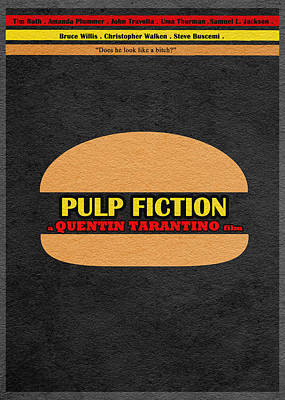 Tarantino Digital Art - Pulp Fiction by Ayse and Deniz
