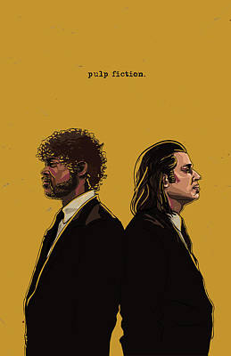 Tarantino Digital Art - Pulp Fiction by Jeremy Scott