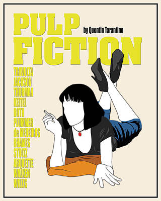 Quentin Tarantino Digital Art - Pulp Fiction Movie Poster by Finlay McNevin
