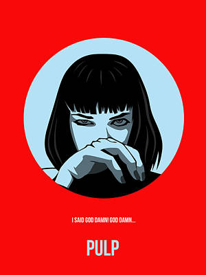 Tarantino Digital Art - Pulp Fiction Poster 3 by Naxart Studio