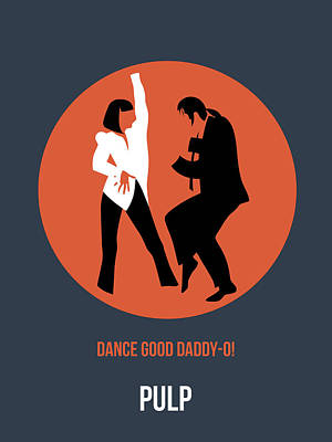 Tarantino Digital Art - Pulp Fiction Poster 6 by Naxart Studio