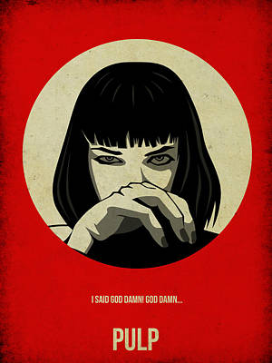 Poster Painting - Pulp Fiction Poster by Naxart Studio