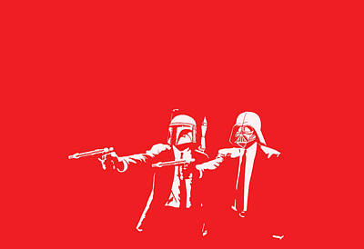 Red Digital Art - Pulp Wars by Patrick Charbonneau