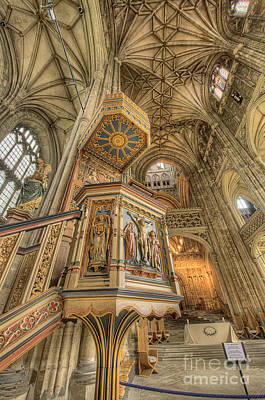 D700 Photograph - Pulpit I Canterbury Cathedral Kent Uk by Jack Torcello