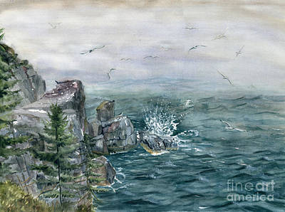 Painting - Pulpit Rock by Melly Terpening