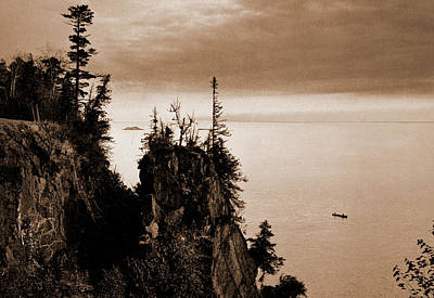 Marquette Drawing - Pulpit Rock, Presque Isle Park, Lake Superior, Lakes & by Litz Collection