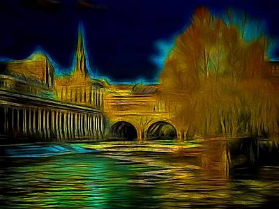 Photograph - Pulteney Bridge 1 by Ron Harpham
