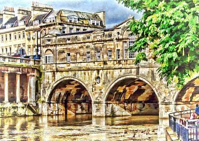 Pulteney Bridge Bath Art Print