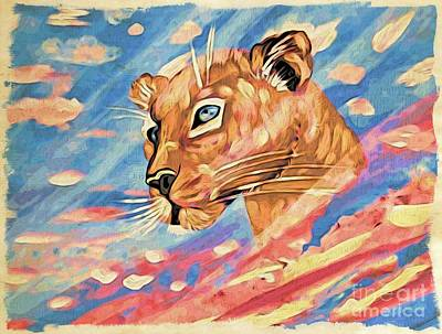 Painting - Puma On Watch by Phyllis Kaltenbach