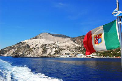 Lipari Photograph - Pumice Quarry - Lipari - Aeolian Islands by Orazio Puccio