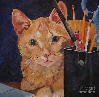 Impish Painting - Pumpkie by Barbara Moak