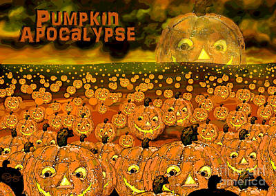 Digital Art - Pumpkin Apocalypse  by Carol Jacobs