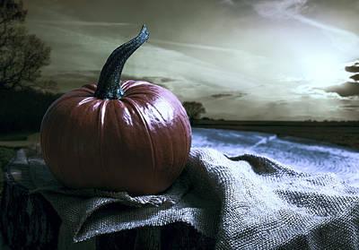Photograph - Pumpkin At Sunset by Amanda Elwell