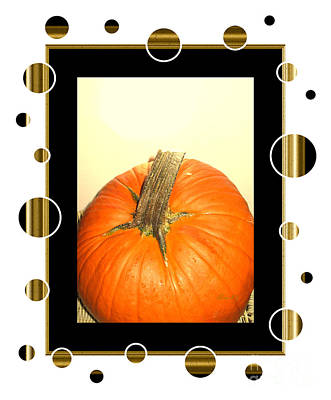 Photograph - Pumpkin Card by Oksana Semenchenko