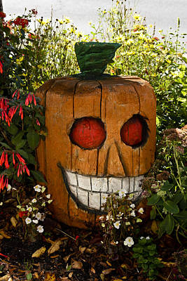 Science Collection Rights Managed Images - Pumpkin Carved Stump 2 Royalty-Free Image by Dennis Coates