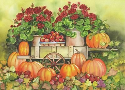Pumpkin Display Art Print by Kathleen Parr Mckenna