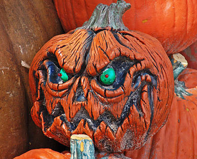 Photograph - Pumpkin Face by Aimee L Maher ALM GALLERY