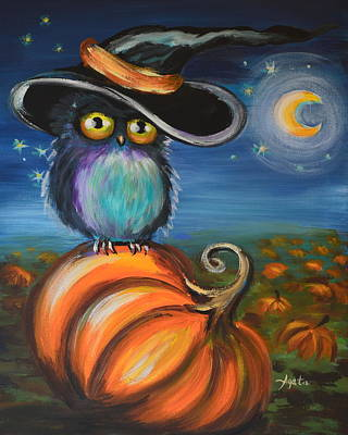 Art Print featuring the painting Owl Bewitch You by Agata Lindquist