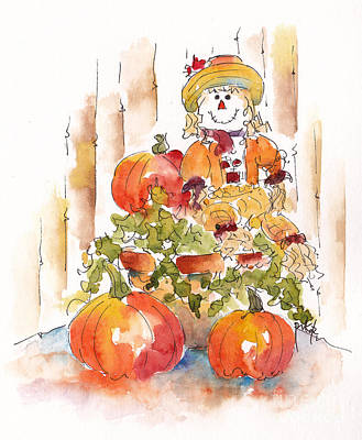 Painting - Pumpkin Gal by Pat Katz