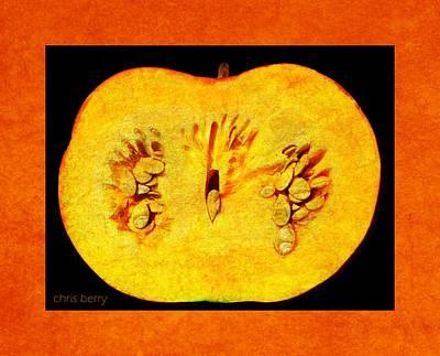 Photograph - Pumpkin Half by Chris Berry