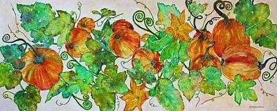 Pumpkin Harvest Time Art Print