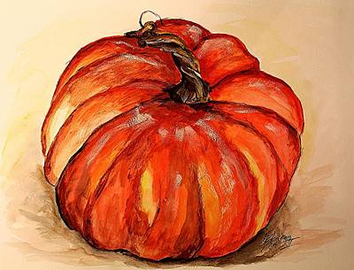 Painting - Pumpkin by Henry Blackmon