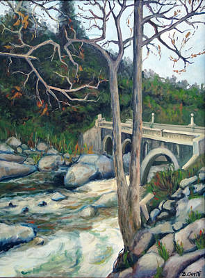 Pumpkin Hollow Bridge Art Print