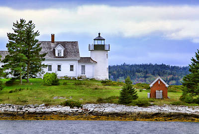 Photograph - Pumpkin Island Light by Carolyn Derstine