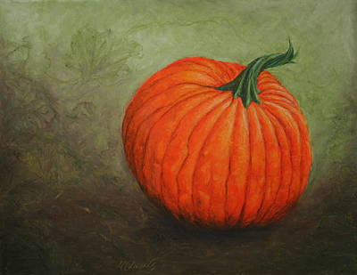 Painting - Pumpkin by Marna Edwards Flavell
