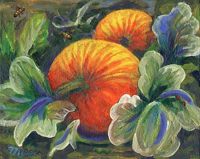 Vegetables Painting - Pumpkin Patch by Linda Mears