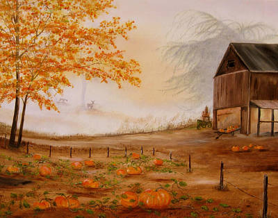 Painting - Pumpkin Patch by RJ McNall