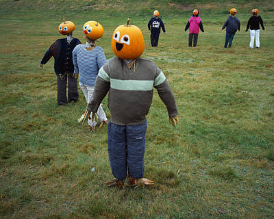 Photograph - Pumpkin People 2 by Tom Daniel